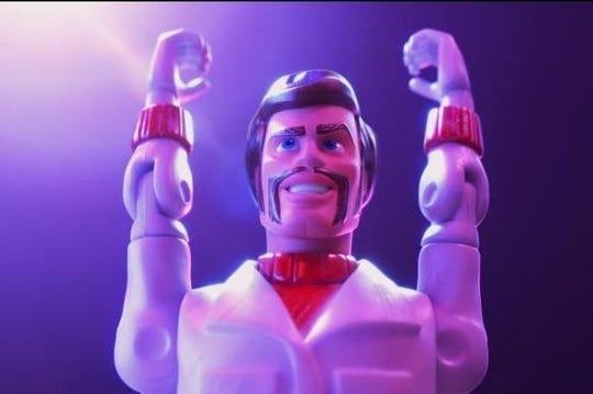 """Keanu Reeves da la voz a Duke Caboom, un temerario canadiense, en """"Toy Story 4""""."""