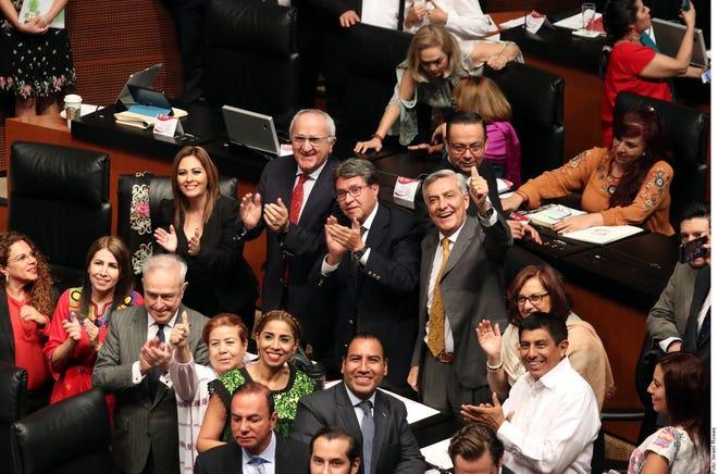 Con 114 votos a favor, 5 en contra y 3 abstenciones, el Senado ratificó el T-MEC.
