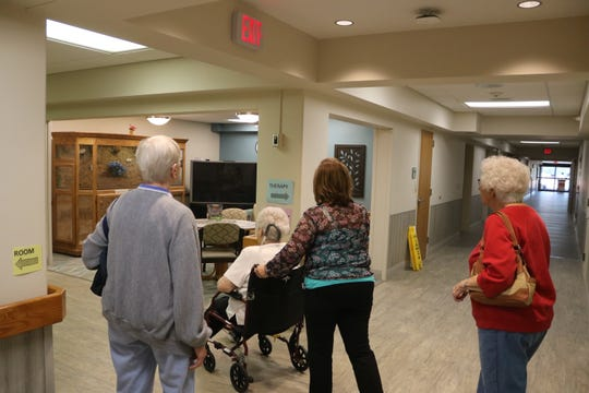 A few prospective future residents tour the newly renovated Riverview Healthcare Campus, which is also undergoing a significant expansion project.