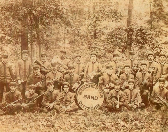 The Manchester Citizens Band in the late 1800s or early 1900s.