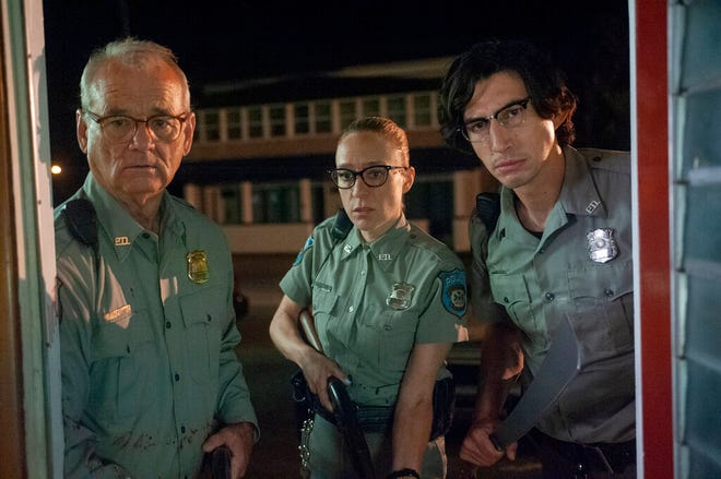 "From left, Bill Murray, Chloe Sevigny and Adam Driver star in ""The Dead Don't Die."" The movie opens Friday at R/C Hanover Movies."