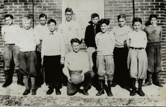 A Manchester Borough boys' basketball team in 1935.