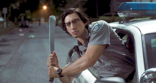 "Adam Driver is Officer Ronald Peterson  in a scene from ""The Dead Don't Die."" The movie opens Friday at R/C Hanover Movies."