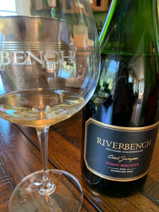 Riverbench Vineyard & Winery was the first winery in Santa Barbara County to plant pinot meunier for sparkling wine. Here, the 2016 vintage.