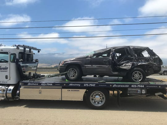 Authorities say one person died in a crash June 19, 2019, on Highway 101 south of Salinas.
