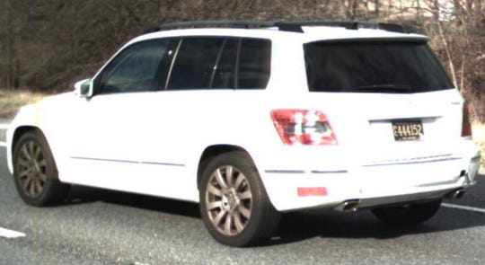 Missing Bethany Beach woman Linda Bravo would be driving a white, 2011 Mercedes GLK350 (SUV) with license plate No. PC444152