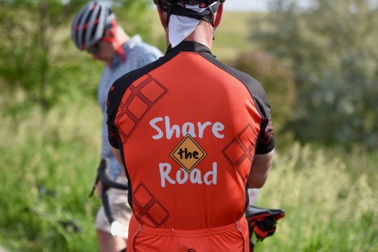 Members of the group advocated for a shared space on the road during the ride on June 19, 2019,