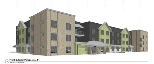 A rendering of the Residences at Greenway project development from Lloyd Cos.