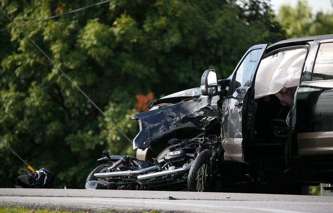 Greene County sheriff's deputies and the Missouri State Highway Patrol have responded to a motorcycle vs. truck crash at West Division Street and Farm Road 123 on June 19, 2019, in Springfield, Mo.