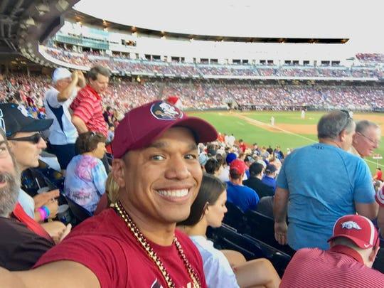 Rodney Mills at TD Ameritrade Park cheering on the Florida State Seminoles.