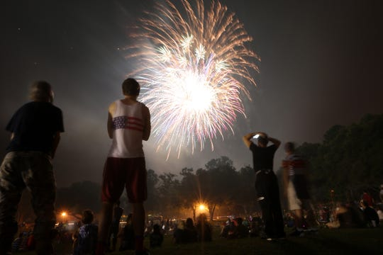 2017: Revelers filled Tom Brown Park for an Independence Day celebration featuring food, entertainment and the city's annual fireworks display.