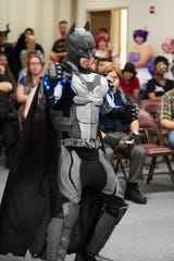 Dex Mccullough participates in the Cosplay Contest at Infinity Con in Lake City.
