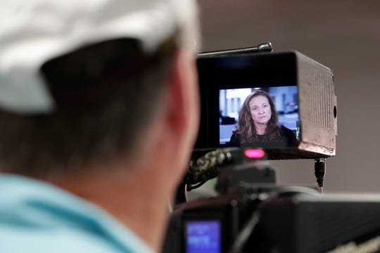 "Tallahassee Democrat former news editor Jennifer Portman is interviewed for an episode of ABC's ""20/20"" about the Dan Markel murder."