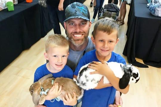 Jupiter residents Kade, Ryan and Reid Robertson attended the 2019 Southeast Bunfest April 27at the Kane Center in Stuart.