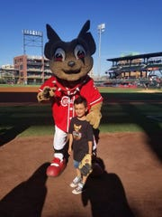 Jacob Martinez, 5, won over baseball fans with his rendition of the national anthem June 16 at the El Paso Chihuahuas.