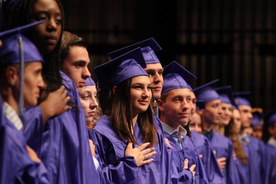 Byram Hills graduation at SUNY Purchase  June 18, 2019.