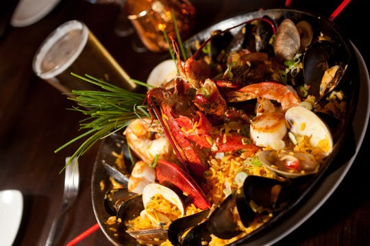 Seafood paella from Sonora in Port Chester.