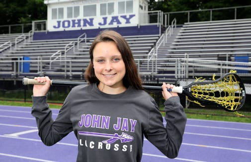 John Jay-Cross River's Charlotte Wilmoth is The Journal News/lohud girls lacrosse Player of the Year for Westchester and Putnam. Wilmoth, a junior, is photographed at the high school June 19, 2019 in Cross River.