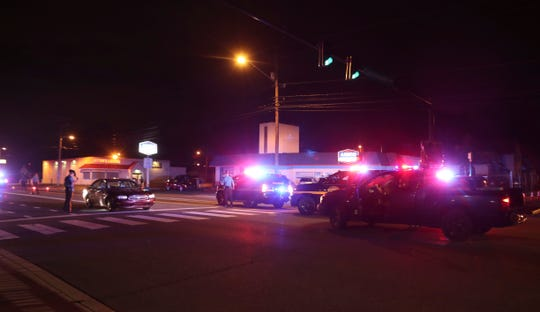Delaware State Police investigate after a pedestrian was struck on Philadelphia Pike at the intersection with Commonwealth Ave. in Claymont, reported about 10:50 p.m. Tuesday.