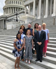 Delaware winners on Capitol Hill with Sen. Coons.