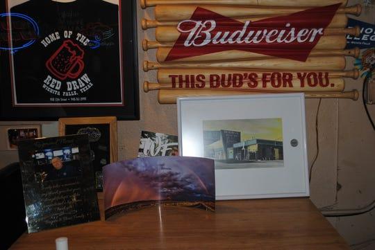 Mementos are seen Bar L Inn in downtown Wichita Falls.