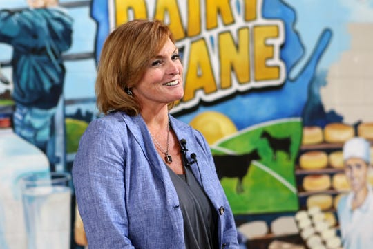 Kathleen O'Leary, Wisconsin State Fair CEO and Wisconsin State Fair Park Foundation board member, talks about the new interactive exhibit Dairy Lane that will be ready when the State Fair opens on Aug. 1.