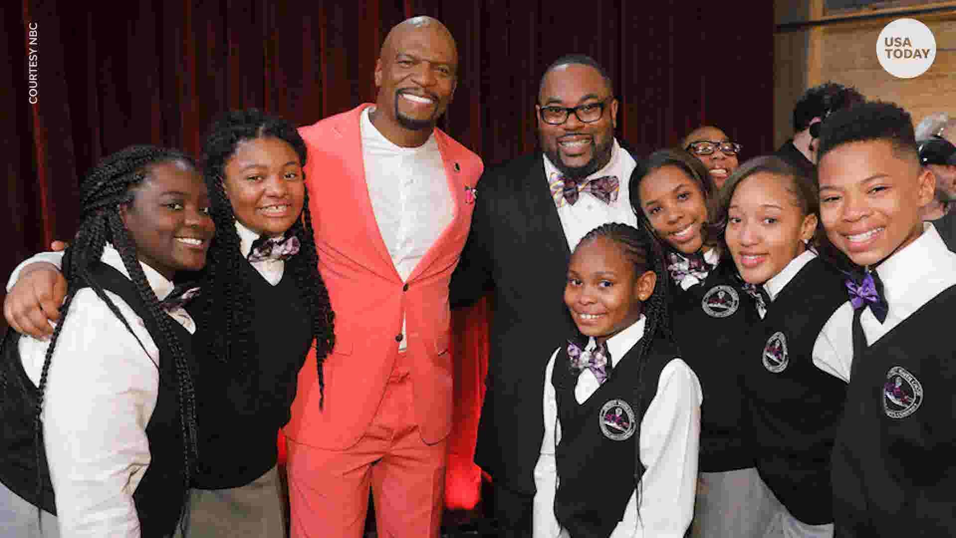 An emotional Terry Crews hits golden buzzer for Detroit Youth Choir