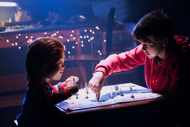 "In the new ""Child's Play,"" Chucky (left, voiced by Mark Hamill) is a friend to the end to Andy (Gabriel Bateman) — which leads to some violent outcomes."