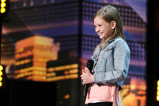 "Ansley Burns performs on ""America's Got Talent."""