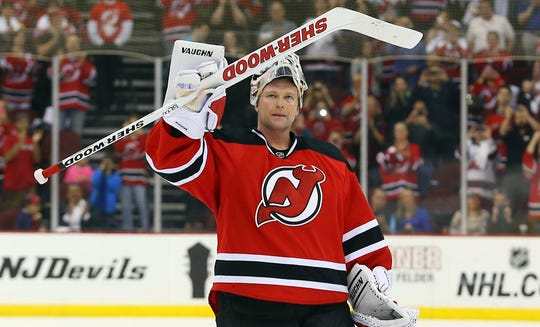 Martin Brodeur won three Stanley Cups with the New Jersey Devils and is the all-time leader in wins and shutouts.
