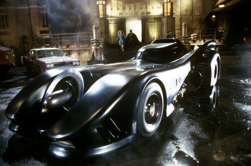 "The Batmobile looked ready for war in Tim Burton's super-stylish ""Batman."""