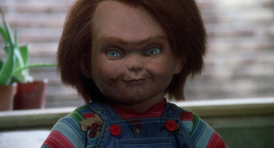 The original Chucky (voiced by Brad Dourif) is one bad little dude since he houses the soul of an evil serial killer.