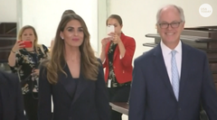 Democratic members of Congress accused President Trump's former spokeswoman Hope Hicks of pushing back on their inquiries during closed testimony.