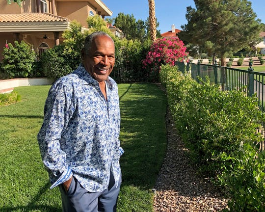 O.J. Simpson, shown earlier this month, was released from prison in October 2017.