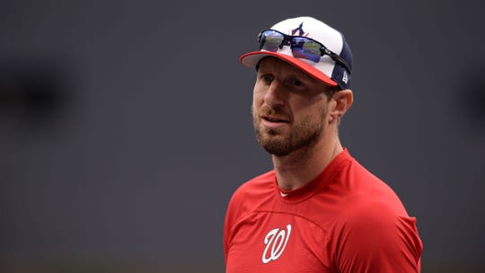 Max Scherzer plans to pitch Wednesday with broken nose, says Nationals manager