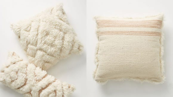 If Joanna approves of these funky, shaggy pillows, so do we.