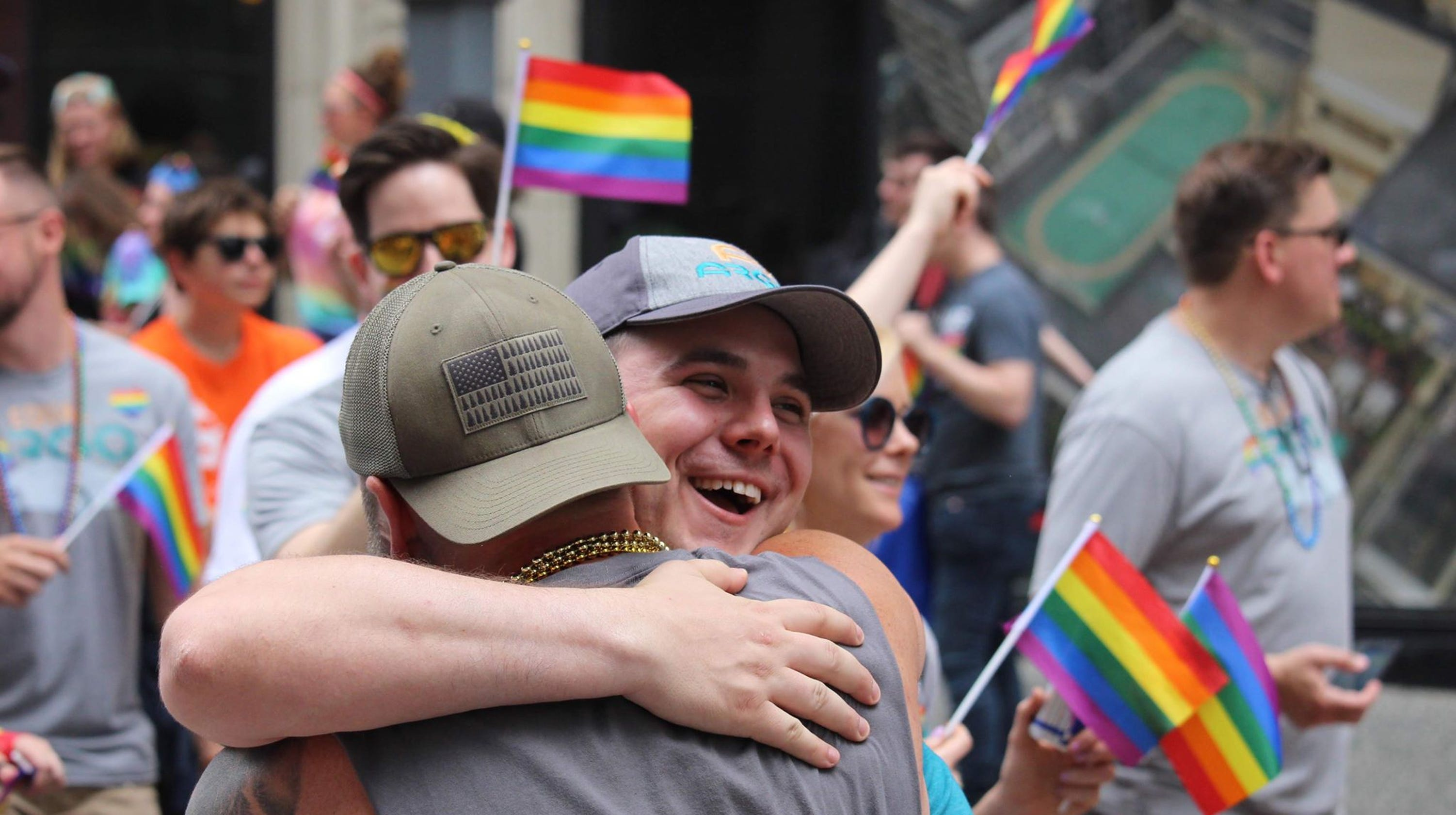 Dad hugs at Pride parade show how hard family rejection hits