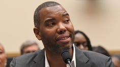 Writer Ta-Nehisi Coates appeared at a hearing in front of the House Judiciary Subcommittee on the Constitution, Civil Rights and Civil Liberties during a hearing on reparations for slavery in Washington