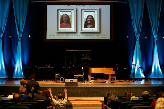 Community members attend a June 19 prayer vigil for the Rousseau family at Calvary Bible Church in Neenah.