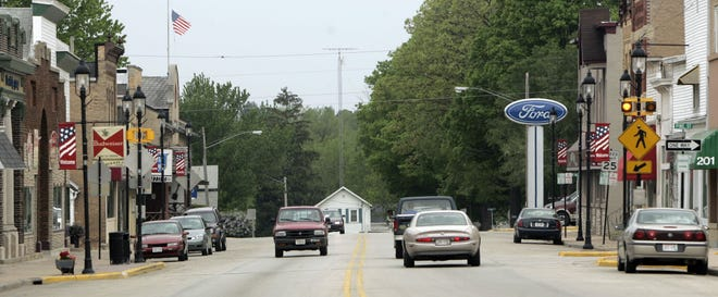 Traffic moves along Main Street in downtown Hortonville in this file photo. Residents who live south of Main Street have been asked to boil water as a precaution after a water main break.