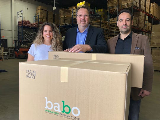 Kaitlyn Ruitenberg, Paul Ruitenberg, and Gustavo Avila have started Babo, a Kearny-based company that supplies bamboo-based products.