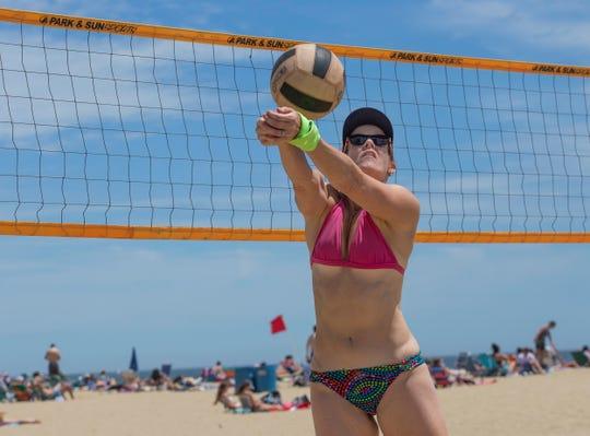 NJ Beaches: Belmar, Day at the Beach in June 15,  2019.