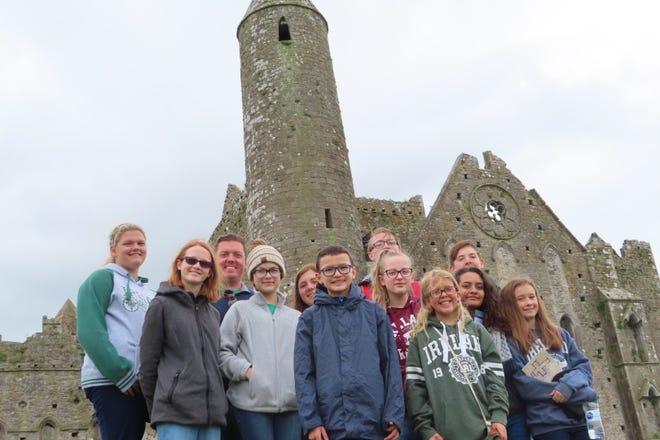 Chorus Abilene members at the Rock of Cashel in Ireland.