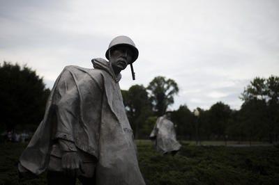 The Korean War Veterans Memorial in Washington, D.C.