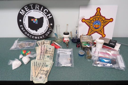 """Significant amounts"" of methamphetamine, drug paraphernalia and cash were seized when deputies from the Crawford County Sheriff's Office searched a Crestline home on Wednesday."
