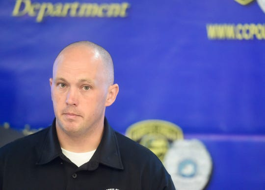 Criminal Investigation Division Lit. Colby Burris speaks during the ATF and CCPD joint press conference about gun locks, Thursday, June 20, 2019. The department explained the city has a big problem with people leaving guns in unlocked cars, then the guns get stolen