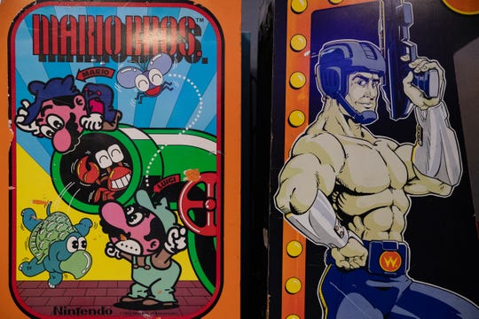 Coin arcade games inside Quasar's Arcade at 5301 Everhart Road in Corpus Christi.