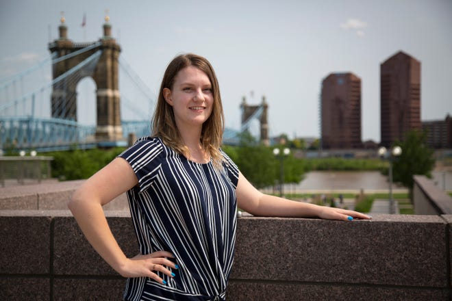 Julia Fair, Northern Kentucky watchdog reporter for The Enquirer, poses at Smale Riverfront Park in downtown Cincinnati on Monday, June 3, 2019.