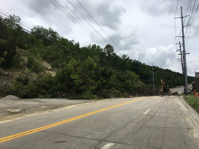 This 2019 landslide on Ky. 9 is in the same area as one that happened Tuesday night. A spokewoman for Distrct 6 says the new slide covered all four lanes of the highway in Wilder near Bobby Mackey's .