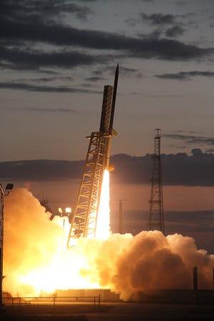 A NASA Terrier-Improved Orion suborbital sounding rocket launches, carrying Austin Peay's first space-bound payload.
